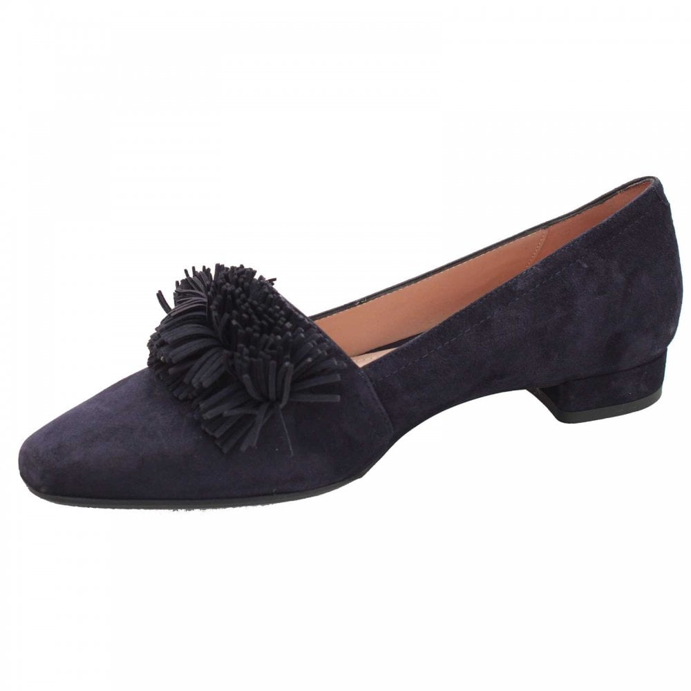 666d40eb5f Low Heel Front Fringe Court Shoes By Perlato At Walk In Style