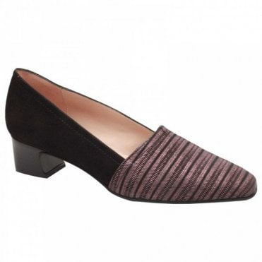 Low Heel Striped Front Court Shoe