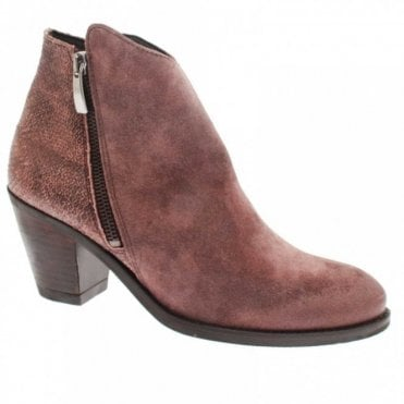 Low Heel Suede Ankle Boot