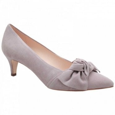 Peter Kaiser Low Heel Suede Court Shoe With Bow