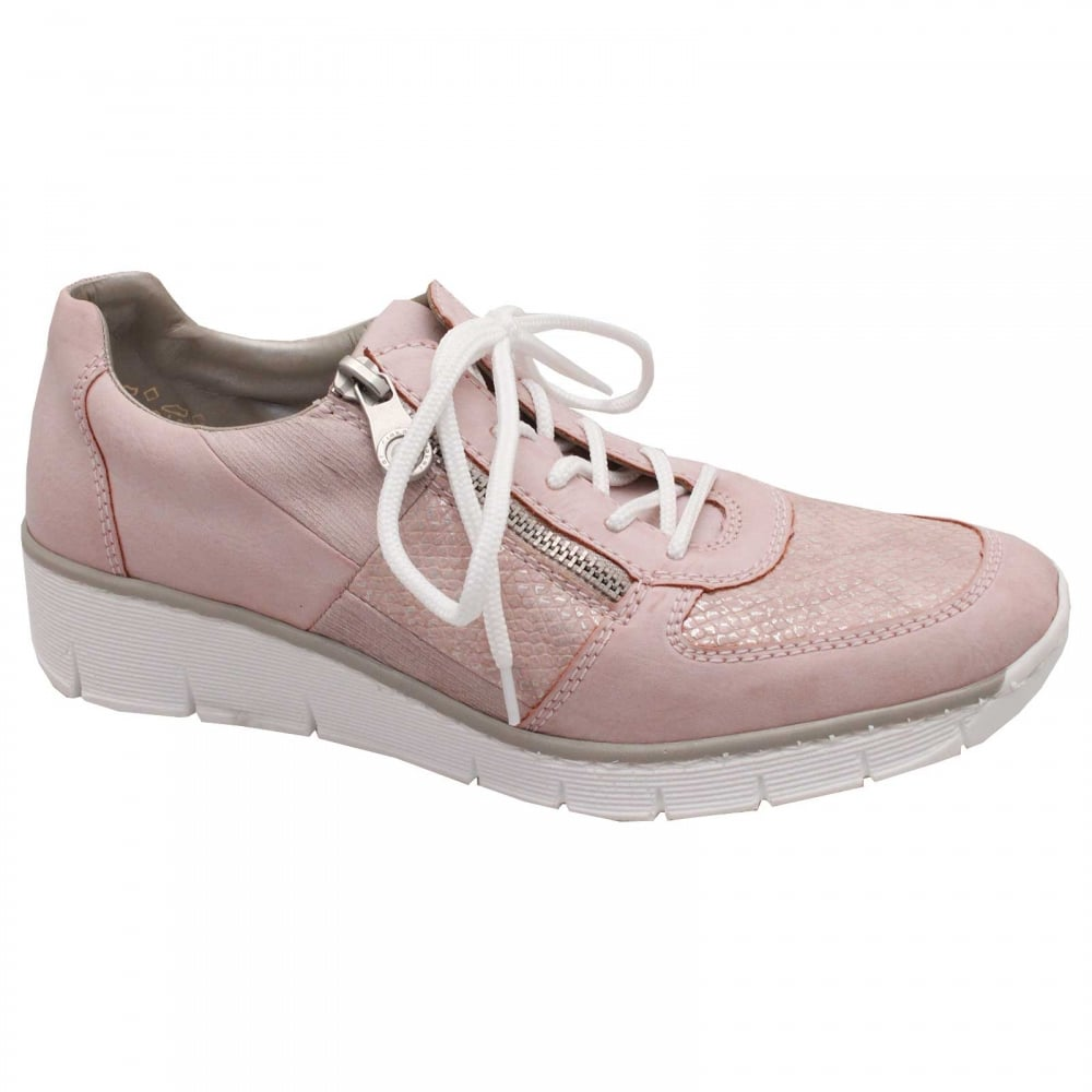 Low Wedge Lace Up Trainer By Rieker At
