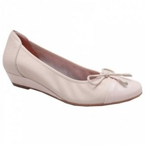 Low Wedge Soft Leather Ballet Pump