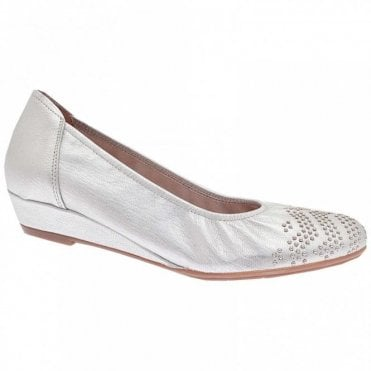 Low Wedge Studded Ballet Pump