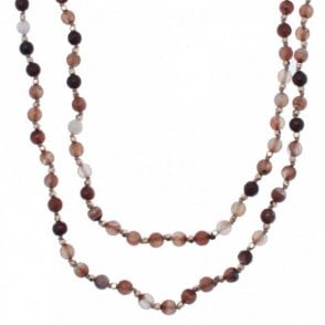 Lucinda Agate Crystal Necklace