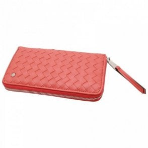 Luxurious Woven Leather Purse