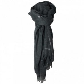 Luxury Wrap Scarf With Lurex