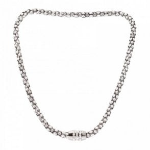 Magnetic Diamante Mesh Effect Necklace
