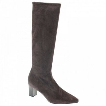 Mandi Stretch Suede Pull On Long Boot