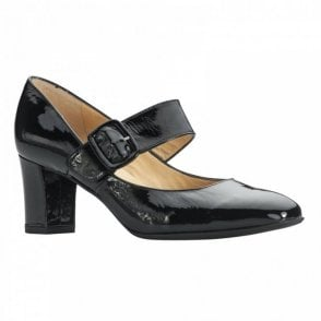 Mary Jane Court Shoe With Side Buckle