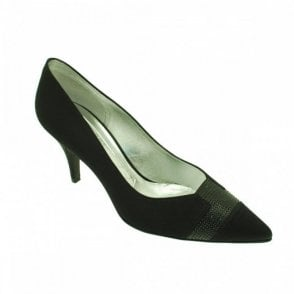 Magrit Medium Heel Diamante Detail Court Shoe