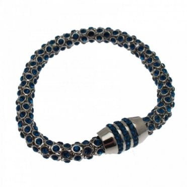 Mesh Effect Magnetic Diamante Bracelet