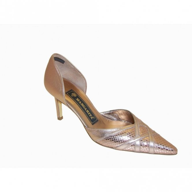 Magrit Metallic Bronze Side Out Court Shoe