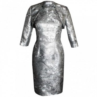Veromia Occasions Metallic Capped Sleeve Dress & Jacket