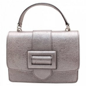 Abro Metallic Leather Grab & Shoulder Handbag