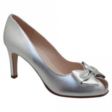 Peter Kaiser Metallic Peep Toe High Heel Court Shoes