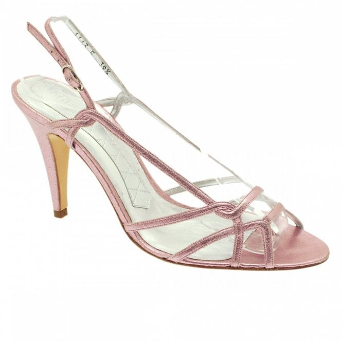 Metallic Pink Sling Back Strappy Sandal