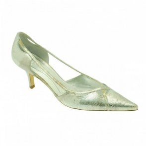 Magrit Metallic Silver Side Strap Detail
