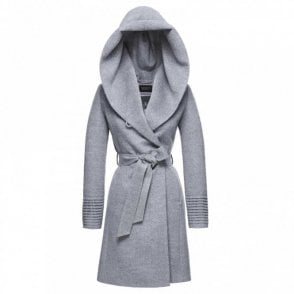 Mid Length Hooded Wrap Coat