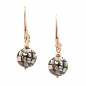 Miranda Spherical Shell Drop Earrings