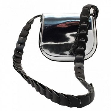 Mirror Matallic Shoulder Handbag