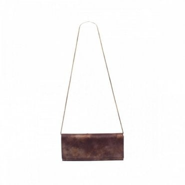 Mottle Effect Clutch Bag With Chain