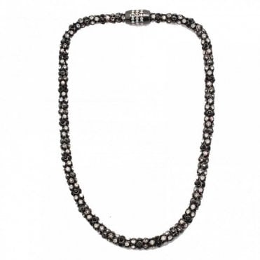 Nour London Multi Crystal Magnetic Necklace
