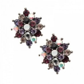 Multi Flower Stud Earrings