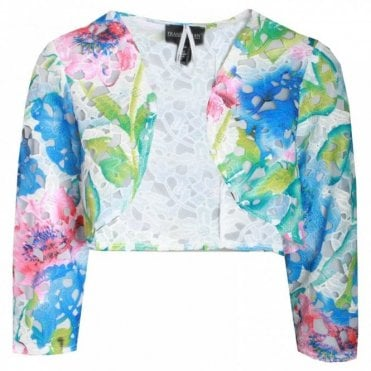 Multi Print Long Sleeve Bolero