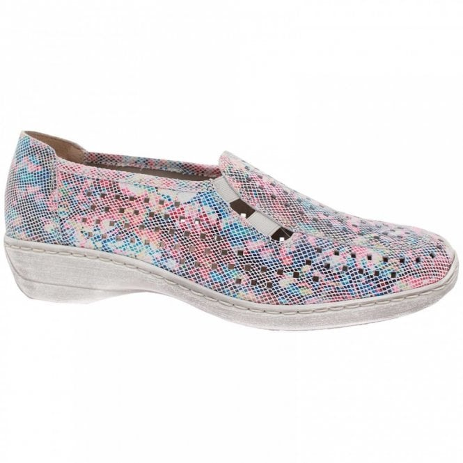 Remonte Multi Printed High Front Slip On Shoes
