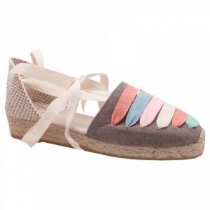 Multi Ribbon Wrap Around Espadrille