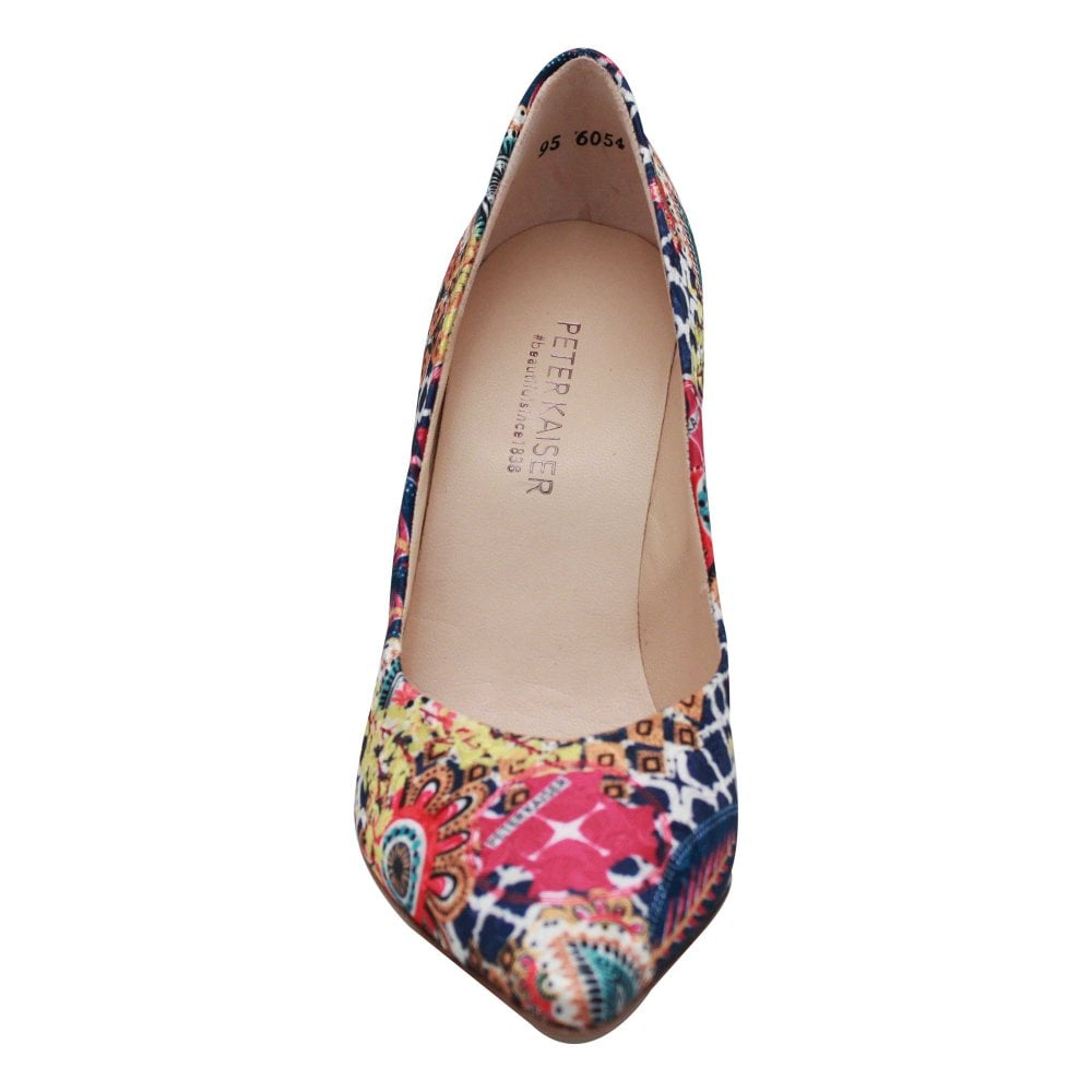 low priced 39946 23a0f Multicolour Print High Heel Court Shoes