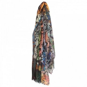 Multicoloured Animal Design Scarf