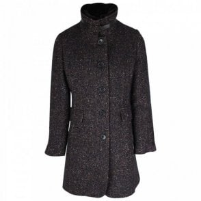 Junge Navy Wool Coat With Detachable Collar