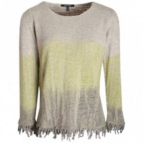 Marie Mero Nordic Light Knit Fringe Detail Jumper