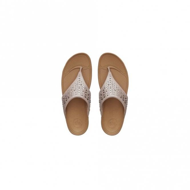Fitflop Novy Toe Post Sparkle Stud Sandal