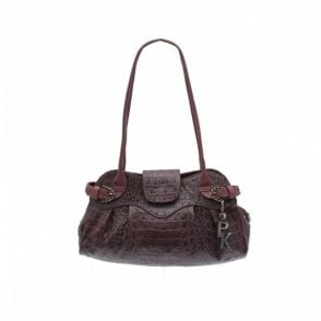 Nuba Kenya Lizard Double Handle Bag