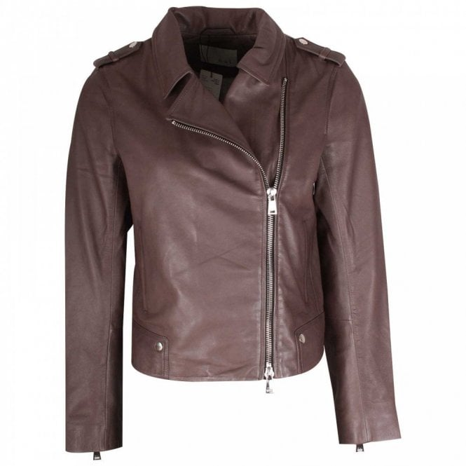 Up By Brown Off Style At Jacket Oui Zip Leather Walk In Centre gaHFaZ