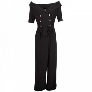 Frank Lyman Off Shoulder Double Breasted Jumpsuit
