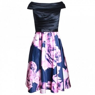 Dress Code By Veromia Off Shoulder Printed Full Skirt Dress