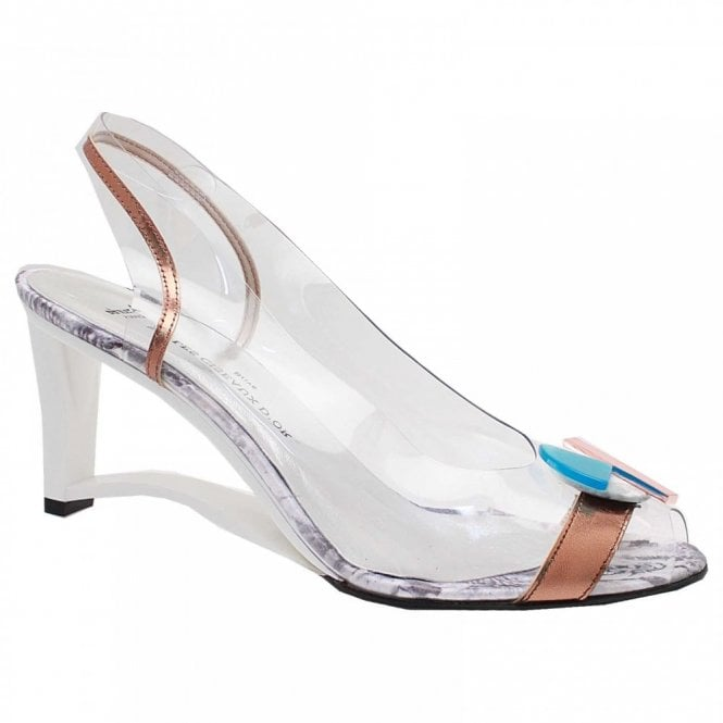 Azuree Open Wedge Perspex Mofit Sandal