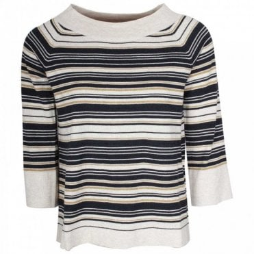 Organic Cotton Stripped Jumper