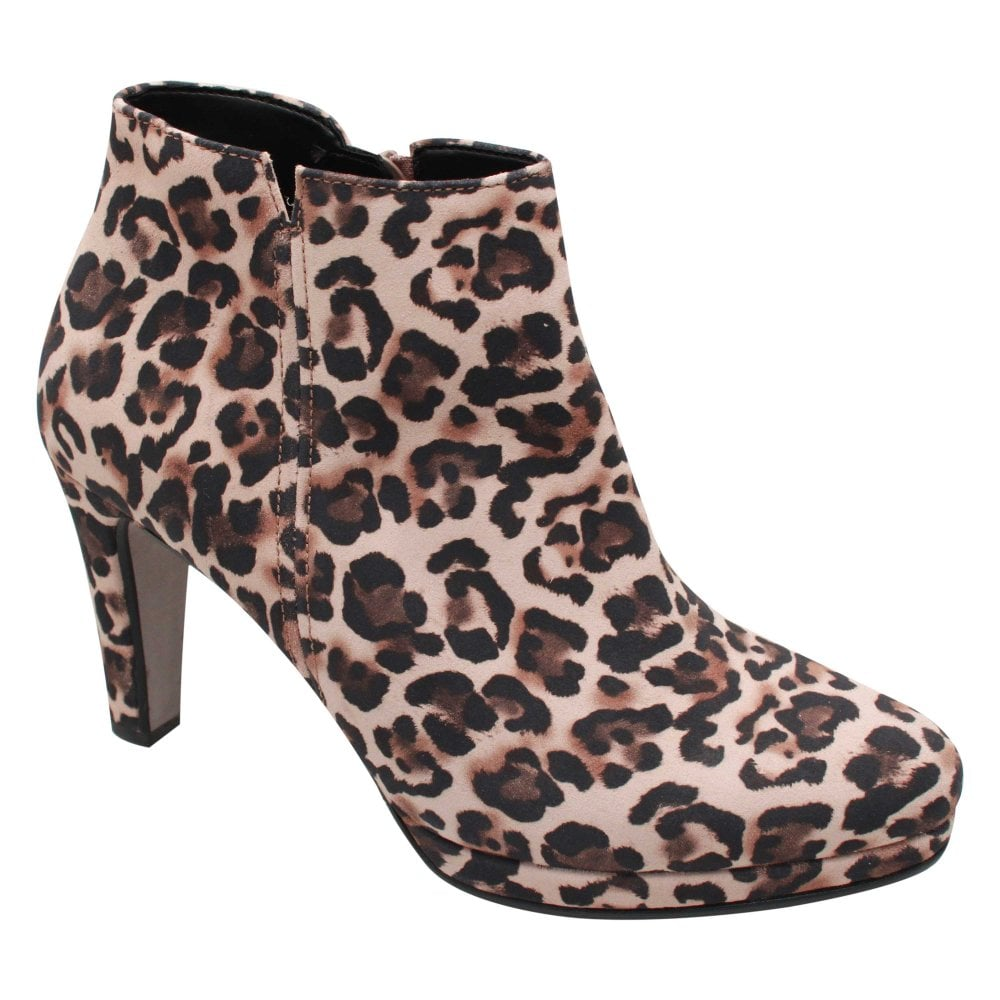 Orla Leopard Print High Heel Ankle Boot