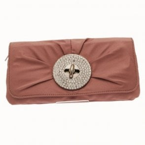 Oversize Diamante Turn Lock Clutch Bag
