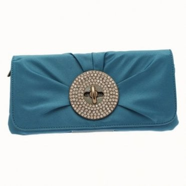 Olga Berg Oversize Diamante Turn Lock Clutch Bag