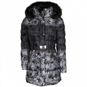 Padded Coat With Detachable Fur Trimhood