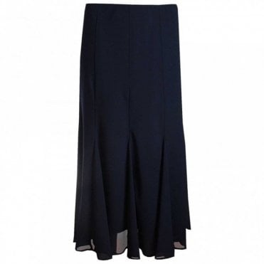 Panal And Pleate Long Skirt