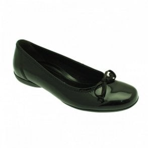 Patent Ballet Pump With Bow Detail