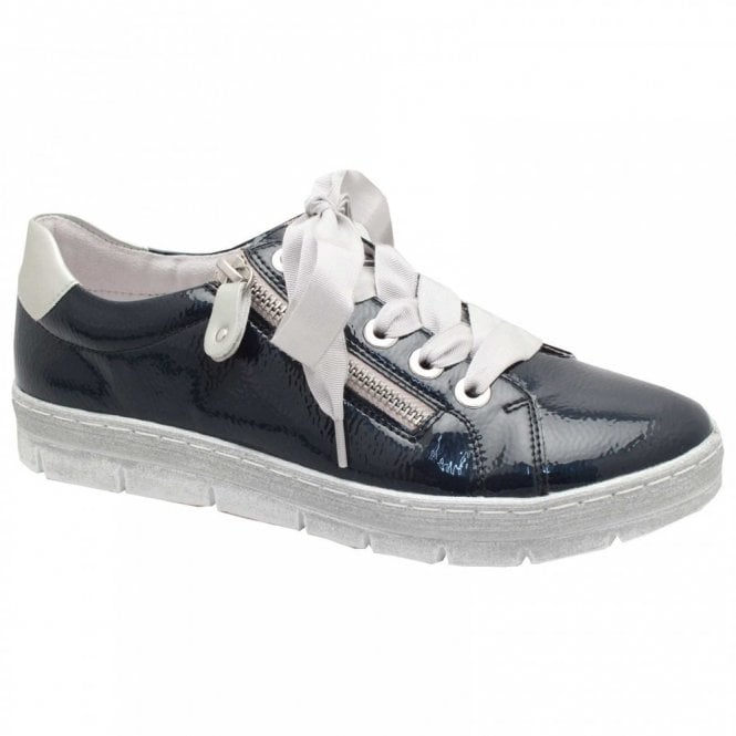 Remonte Patent Lace Up Trainer