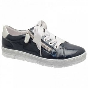Patent Lace Up Trainer