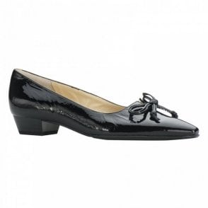 Peter Kaiser Patent Low Heel Court Shoe With Bow